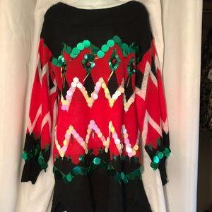 Festive tunic Christmas sweater